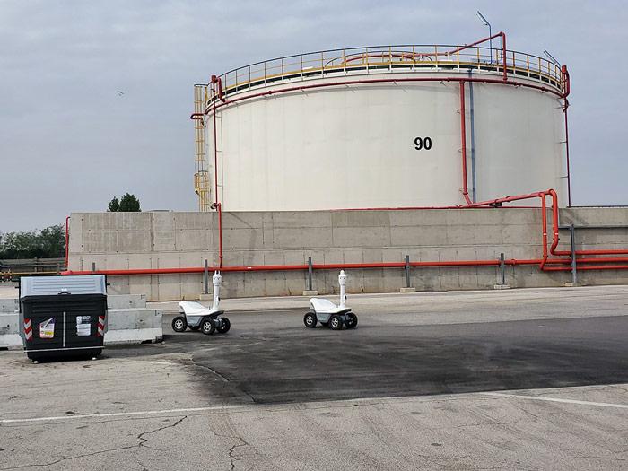 Sicherheitsroboter für die Öl- und Gasindustrie in Italien