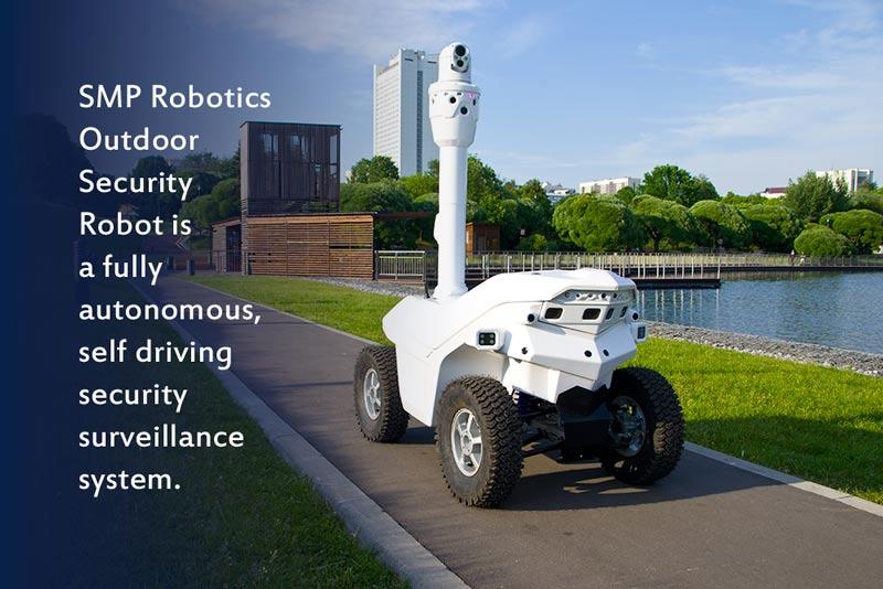 SMP Robotics Outdoor Security robot Argus